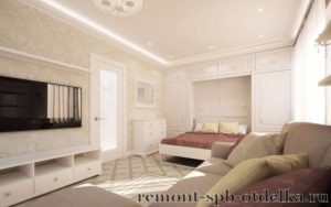 Отделка 1 комнатных квартир под ключ в СПб