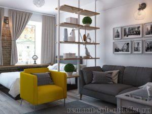 Ремонт однокомнатных квартир под ключ в СПб