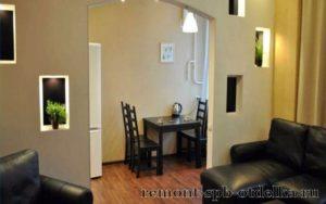 Отделка двухкомнатных квартир под ключ в СПб