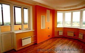 Отделка трехкомнатных квартир под ключ в СПб