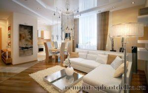 Отделка 4 комнатных квартир под ключ в СПб