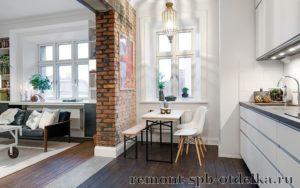 Ремонт трехкомнатных квартир под ключ в Санкт-Петербурге